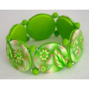 bracelet perles plates Anaïs jeu de transparence,